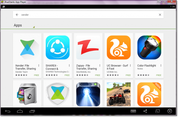 Xender for PC Using Bluestacks