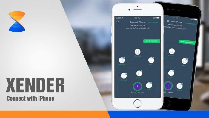 Transfer files from iOS to iOS using Xender